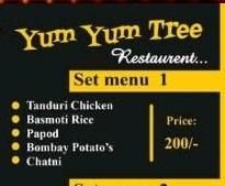 Yum Yum Tree Set Menu 1